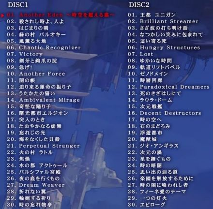 アナデンのオリジナル・サウンドトラック