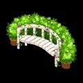ガーデンの長椅子