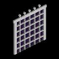 鉄の格子戸