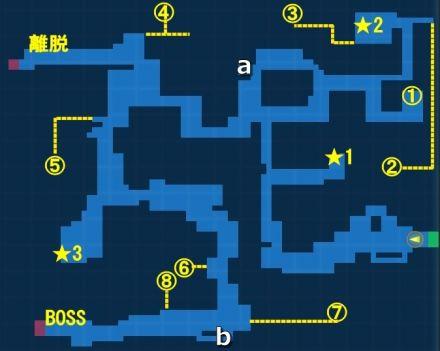魔霊の森・探索MAP