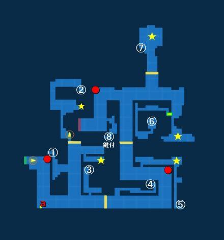 落ちし民の遺跡01探索MAP