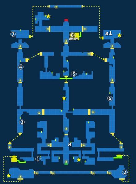 ドワーフの鍛冶場・探索MAP
