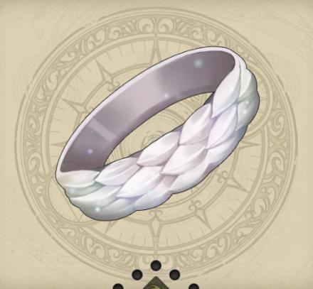 白牙大蛇の真珠指輪(ホワイトスケイルリング)