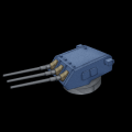 アメリカ三連装8インチ火砲(重量弾)