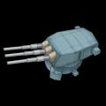 アメリカ16inch三連装砲(MK7)
