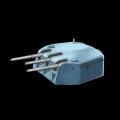 イギリス3連装6インチ火砲