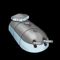 フランス二連装203mm潜水艦主砲